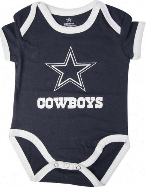 Dallas Cowboys Infant Navy Logo Creeper