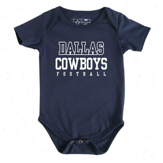 Dallas Cowboys Newborn Navy Practice Creeper