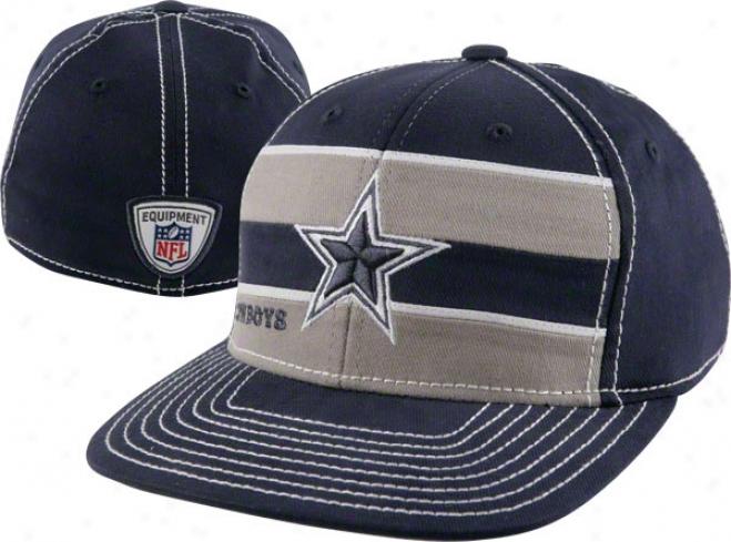 Dallas Cowboys Youth Hat: 2011 Player Sideline Flat Brim Flex Hat