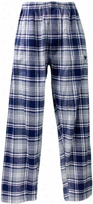 Dallas Cowboys Youth Navy/grey Flannell Plaid Pants