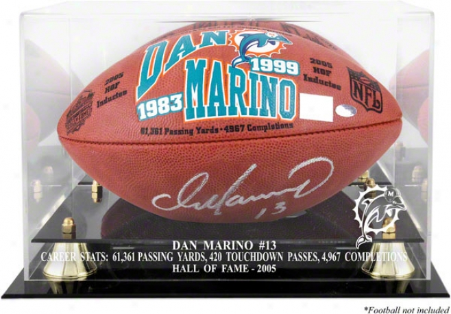 Dan Marino Hll Of Fame 2005 Golden Claxsic Football Parade Case And Mirror Back