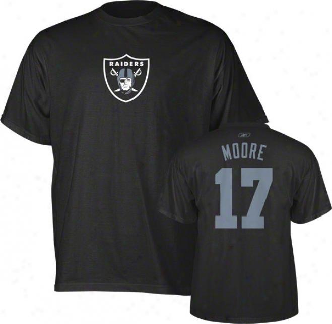Denarius Moore Oakland Raiders Black Reebok Name & Number T-shirt