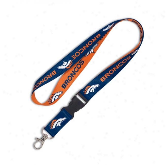 Denver Broncos 2-tone Detzchable Lanyard