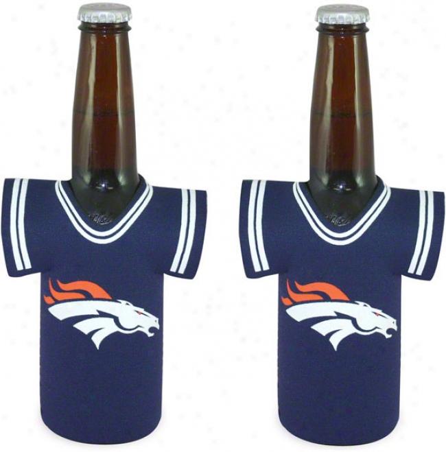 Denver Broncos Bottle Jersey Koozie 2-pack