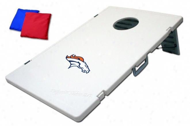 Denver Broncos Cornhole Toss: Bean Bag Game 2.0