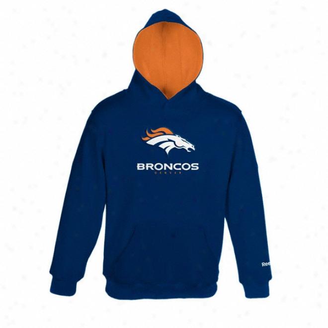 Denver Broncos Kids 4(-7) Sportsman Fleece Hooded Sweatshirt