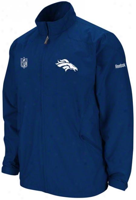 Denver Broncos Navy 2011 Sideline Staic Storm Lightweight Jacket