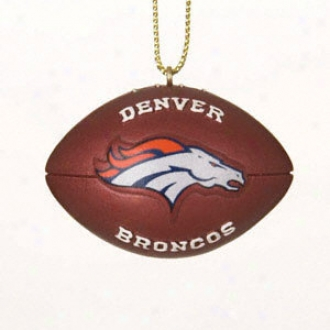Denver Broncos Resin Football Ornament