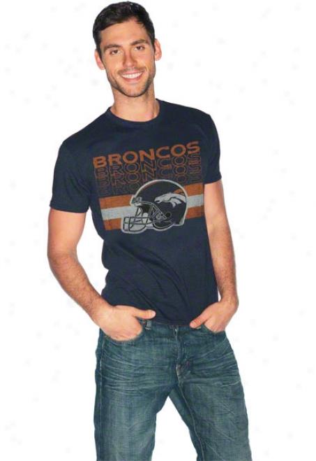 Denver Broncos Single Coverage Tri-blend T-shirt