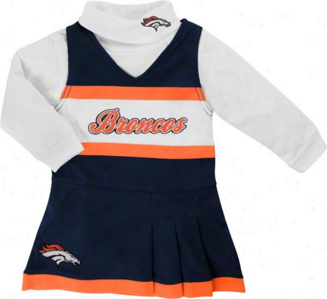 Denver Broncos Toddler Jumper And Turtleneck Set