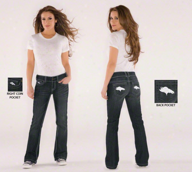 Denver Broncos Women's Bootcut Jeans From Touch By Alyssa Milano