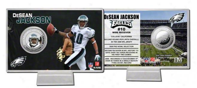 Desean Jackson Silver Coin Card