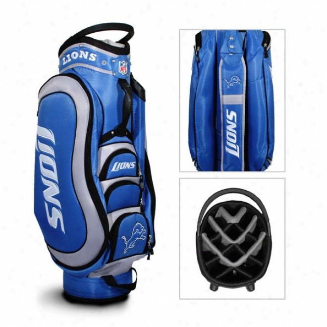 Detroit Lions Golf Bag: 14 Way Medalist Cart Bag