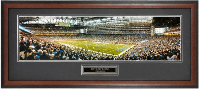 Detroit Lions - Inaugural Game At Ford Field - Framed Unsigned Panoramic Photograph