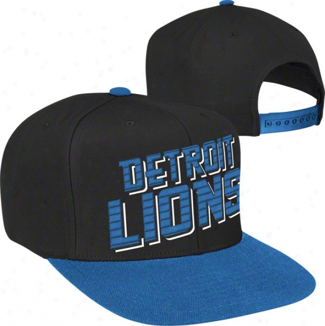 Detroit Lions Navy Reebok Warm Up Snapback Hat