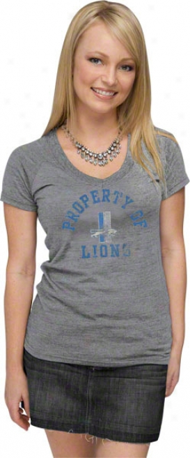 Detroit Lions Women's Arc Of Success Tri-blend T-shirt