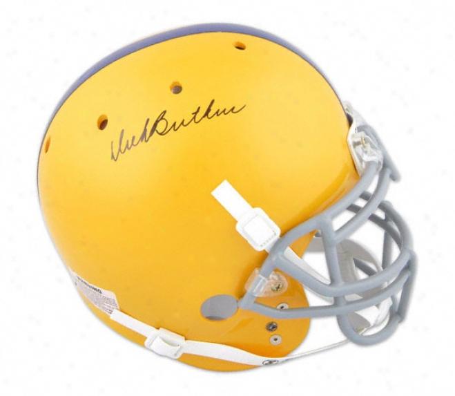 Dick Butkus Autographed Pro-line Helmet  Details: Chicago Vocational High Scuool, Schutt Helmet