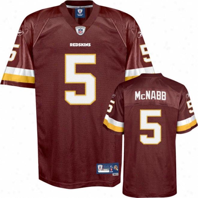 Donovan Mcnabb Burgundy Rebeok Nfl Premier Washington Redskins Jersey