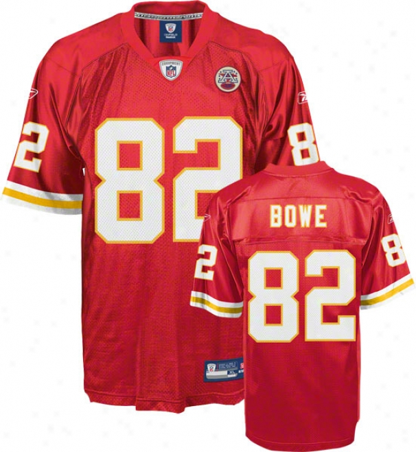 Dwayne Bowe Red Reebok Nfl Replica Kanssas City Chiefs Youth Jersey