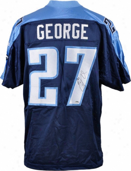 Eddie George Autographed Jersey  Details: Tennessee Titans