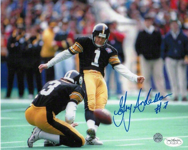 Gary Anderson Pittsburgh Steelers Autographed 8x10 Pohograph