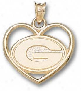 Green Bay Packers 14k Gold ''g'' Hart Pendant