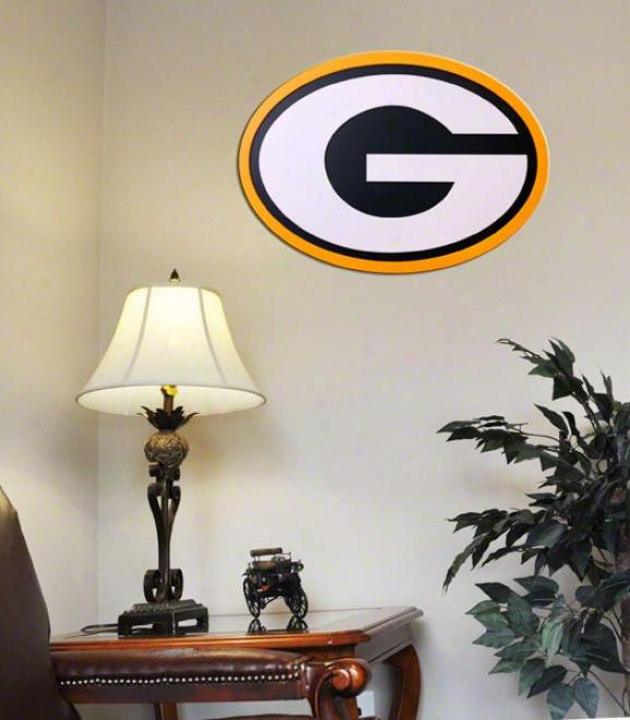 Green Bay Packers 31 Inch Logo Wall Art