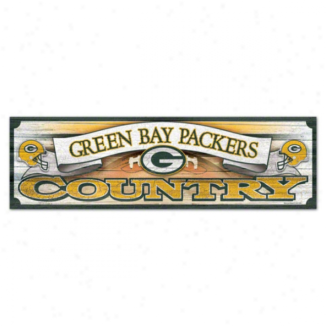 Green Bay Packers 9x30 Forest Sign
