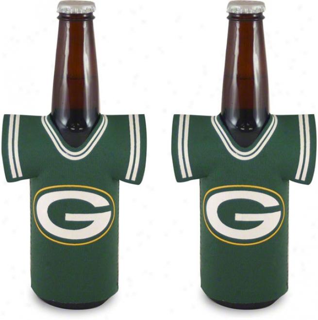 Green Bay Packers Bottle Jersey Koozie 2-ppack