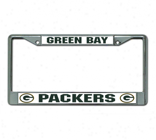 Green Bay Packers Chrome License Plate Condition