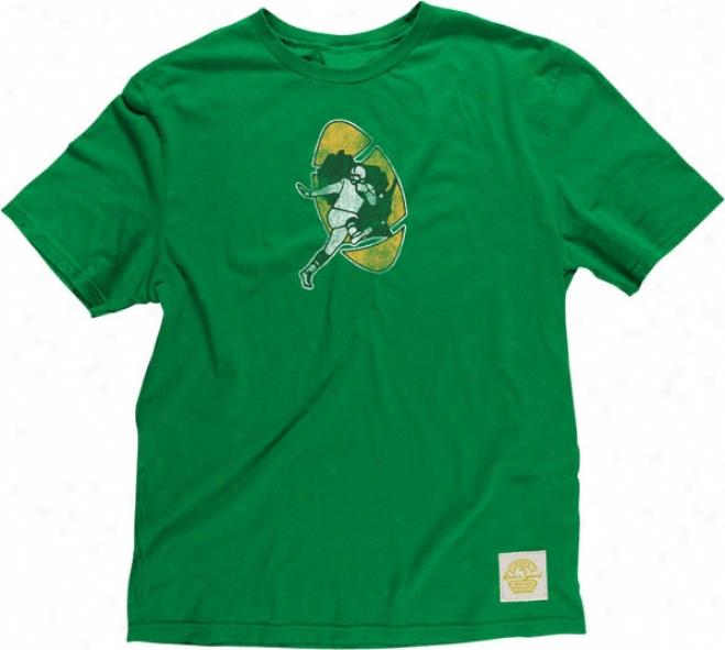 Green Bay Packers Retro Sport Retro Logo Green Super Soft T-shirt