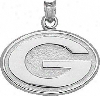 Green Bay Packers Seerling Silver ''g'' 5/8'' Pendant
