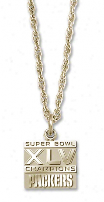 Green Bay Packers Super Bowl Xlv Champions 10kt Necklace