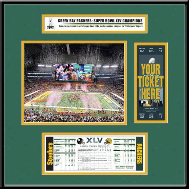 Green Bay Packers Super Bowl Xlv Champions Ticket Frame Jr.