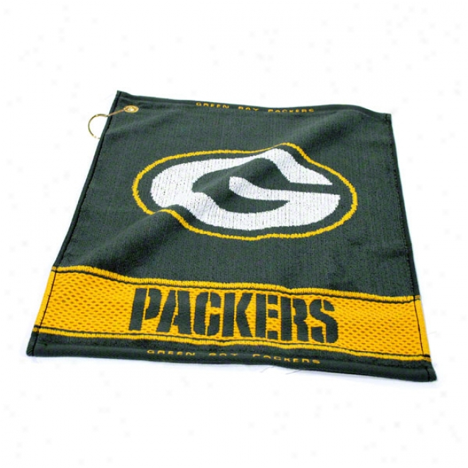 Verdant Bay Packers Woven Golf Towel