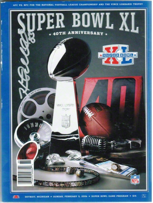 Field covered with ~er Miller Pittsburhh Steelers Autographed Super Bowl Xl Program