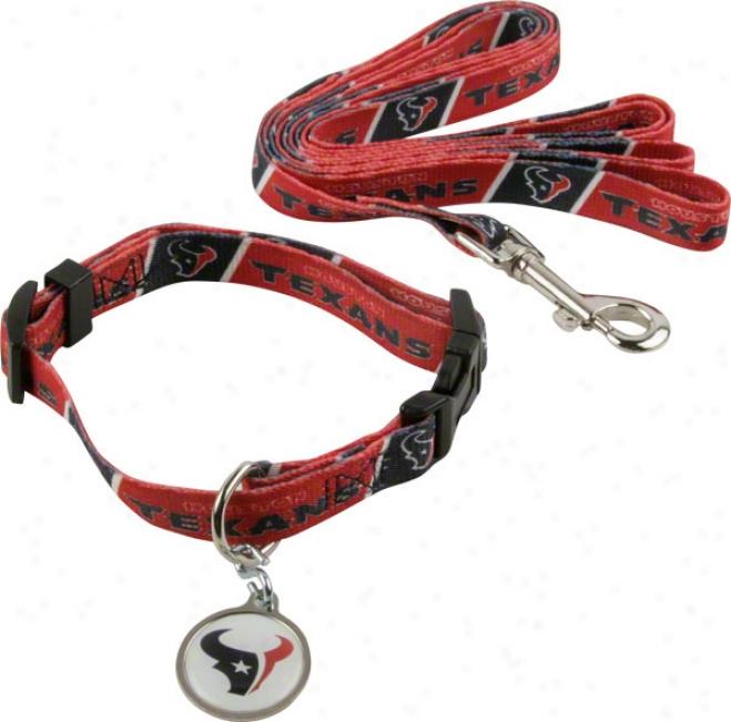 Houston Texans Dog Collar & Leash Set