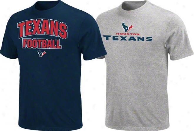 Houston Texans Navy/steel 2 T-shirt Combo Pack