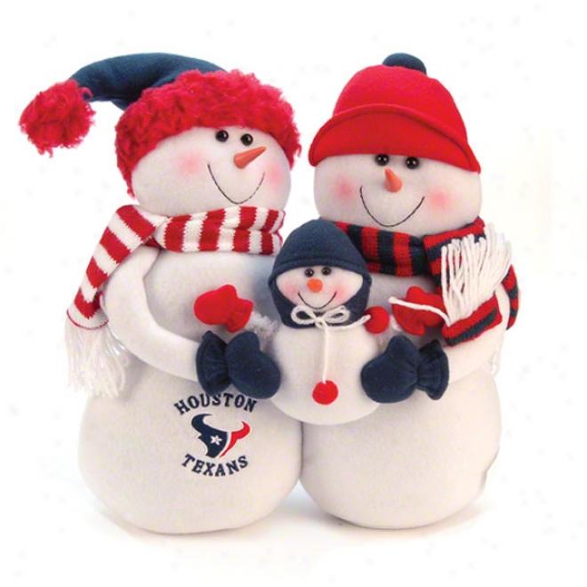 Houston Texans Plusg Snowman Family