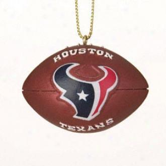 Houston Texans Resin Football Ornament