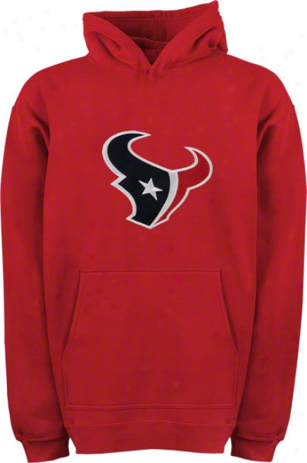 Houston Texans Youth Red Big Logo Hooded Sweatshirt