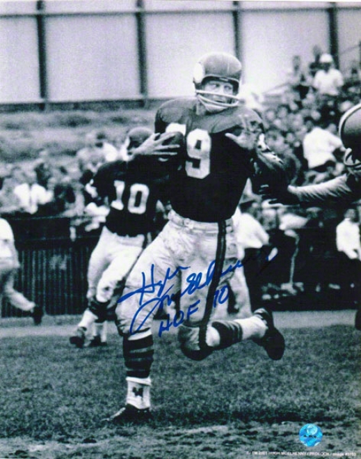 Hugh Mcelhenny Minnesota Vikings Autographed 8x10 Photo Fighting Off A Tackler