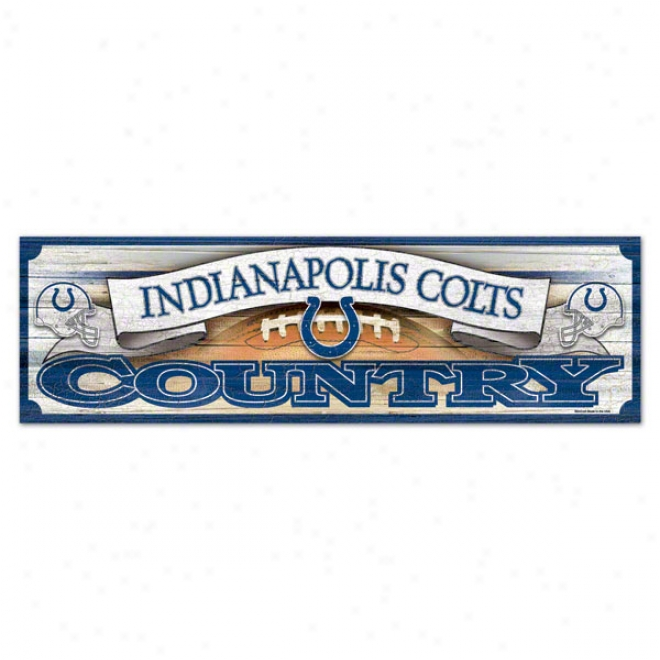 Induanapolis Colts 9x30 Wood Sign