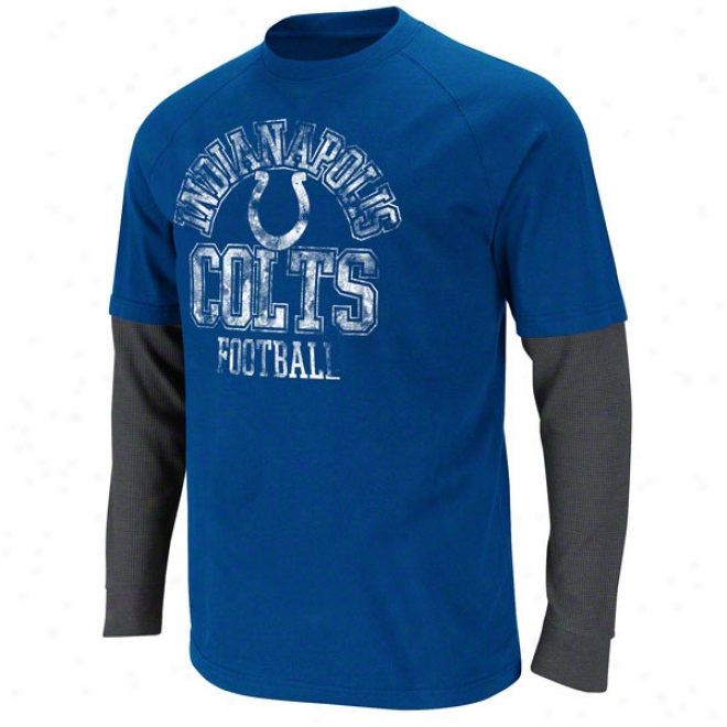 Indianapolis Colts Blue Read And React Two-fer T-shift