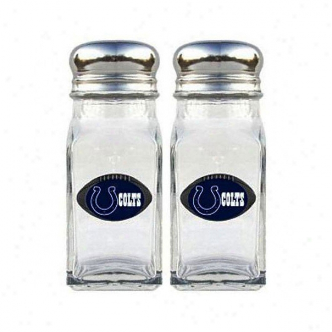 Indianapolis Colts Glass Salt And Pepper Shakers