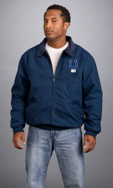 Indianapolis Colts Jacket: Navy Reebok Saginaw Jerkin