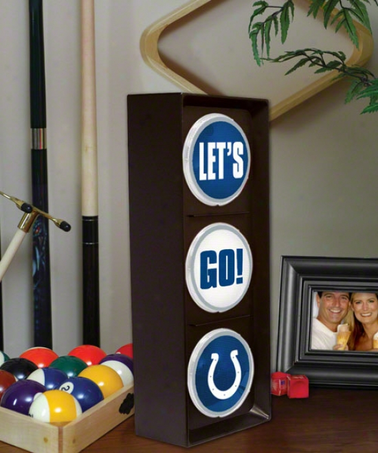 Indianapolis Colts - Let's Go - Flashing Traffic Light