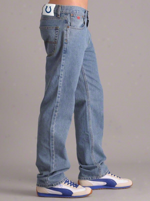 Indianapolis Colts Light Wash Tailgater Relaxed Fit Denim Jeans