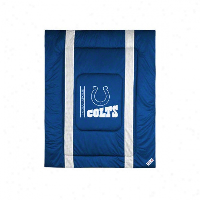 Indianapolis Colts Sideline Comforter - Twin Bed