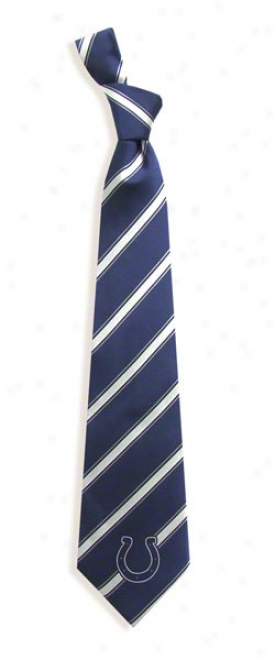 Indianapolis Colts Striped Woven Poly Tie